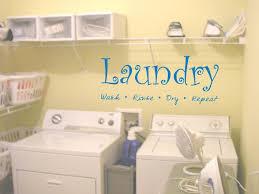 Laundry Room Wall Decal Sticker Wash Fold Rinse Dabbledown DMA