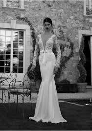 backless lace wedding dresses sleeve v neck lace backless trumpet mermaid wedding dress abb0014