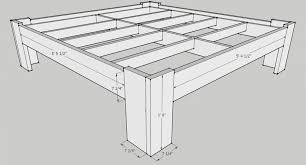 Queen Size Platform Bed Plans by Bed Frames Diy King Bed Frame With Storage How To Build A Wooden