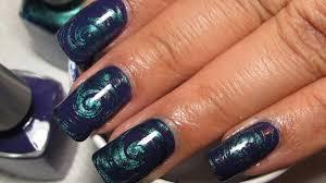 purple u0026 metallic teal water marble nail art tutorial water