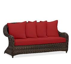 Patio Furniture Cushion Slipcovers Torrey Roll Arm Sofa Cushion Slipcover Sunbrella R Jockey Red