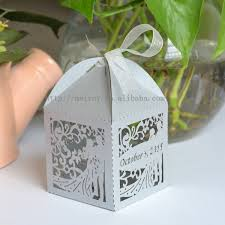 gifts for wedding guests laser cut wedding silver favors silver paper gift bags for guests