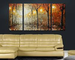 cherish 100 painted paintings gift forest 3 panels