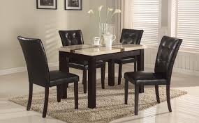 amazing design faux marble top dining table set skillful dining