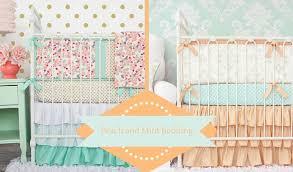 soft u0026 sweet peach and mint nursery bedding u2013 caden lane
