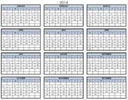 printable calendar yearly 2014 2014 printable pdf one page calendar yearly 2014 one page calendar