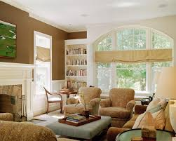 window valance ideas in family room traditional with gold paint