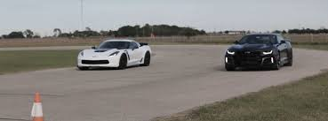camaro zl1 vs corvette 2017 chevrolet camaro zl1 drag races 2017 corvette z06 with a