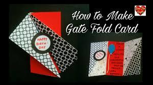 birthday card for best friend diy gate fold card youtube