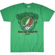 Shamrock Green Grateful Dead Shamrock 77 Green T Shirt Tee Liquid Blue