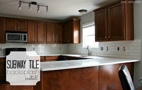 install backsplash in kitchen kitchen duo ventures kitchen makeover subway tile backsplash