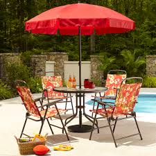 Outdoor Patio Dining Sets With Umbrella - essential garden folding 6pc patio set floral limited availability