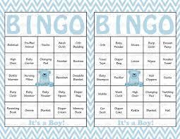 30 baby shower bingo cards printable party baby boy