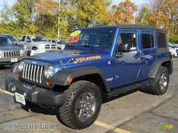 dark blue jeep rubicon 2010 jeep wrangler unlimited mountain edition 4x4 in deep water