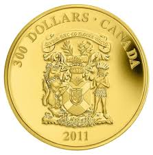 300 2011 gold coin nova scotia coat of arms royal canadian
