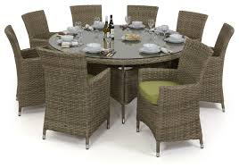 8 Seat Patio Dining Set - maze rattan milan 8 seat dining set with dining chairs maze living
