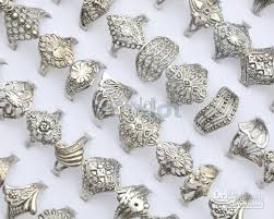 jewellery rings images images 2018 ring jewelry mix 30 tibet silver rings vintage assorted rings jpg