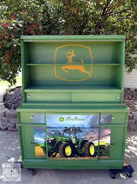 John Deere Green Dresser Makeover Bedroom Ideas Paint Green - John deere kids room