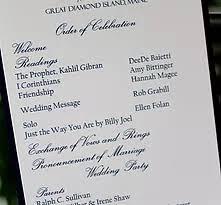 nautical wedding programs ceremony and reception cards