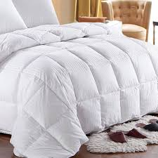 the seasons collection light warmth white goose down comforter 600fill power striped white goose down comforter oversized all