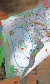 kid u0027s treasure map easy to follow map to buried treasure of your