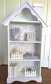 House Bookcase Charming Cottage Dollhouse Bookcase Custom By Artfullibrary Etsy