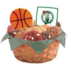 basketball gift basket nba boston celtics cookie basket cookies by design
