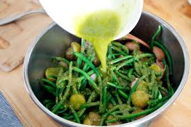 summer italian potato salad potato and green bean salad with