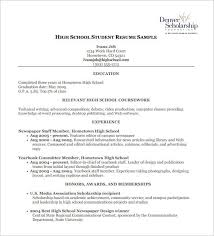 scholarship resume high school scholarship resume best resume collection