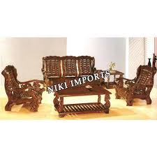Designer Wooden Sofa At Rs  Nos Wooden Sofa ID - Teak wood sofa set designs