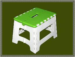 hl mini portable environmental plastic folding stool in dongguan