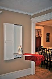 wall mount ironing board cabinet white amazon com organizedlife white wall mount ironing board center