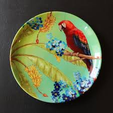 ceramic plates spreading the colors of alluring