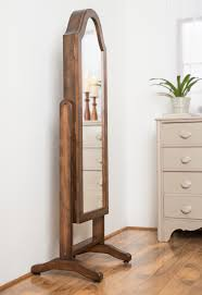 Nifty Mirror by Shabby Brown Wooden Mirror Jewelry Box With Pedestal On The Floor