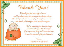 Thank You Cards For Baby Shower Gifts - thank you cards for baby shower party celebrations baby shower