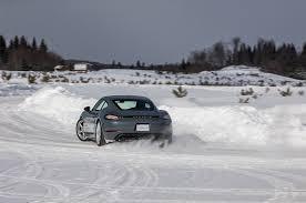 nissan leaf in snow snow dancers porsche schools drivers in winter conditions motor
