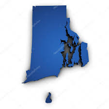 Map Of Ri Map Of Rhode Island State 3d Shape U2014 Stock Photo Nirodesign