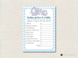 elephant price is right baby shower game elephant theme