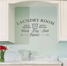 Laundry Room Wall Decor Laundry Room Vinyl Wall Decal Sticker Large 20 99 Via Etsy