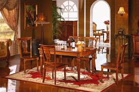 Home Colonial Dining Room Furniture Circular Dining Table - Colonial dining room furniture