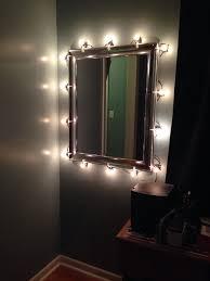 diy makeup mirror with christmas lights silver mirror c7 bulbs