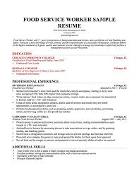 Culinary Resume Sample by Resumes Examples Resume Profile Examples Gallery Of Profile For A