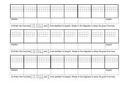 ordering fraction activity and worksheet by jad518nexus teaching