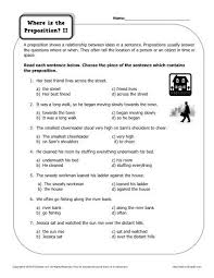 17 best images of college sentence worksheet prepositional