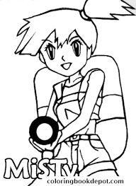 pokemon coloring pages misty pokemon misty coloring pages