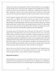 finance project on performance evaluation of indian mutual funds