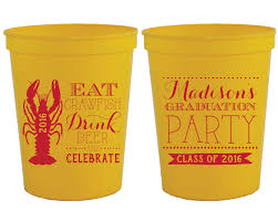 crawfish party supplies new to siphiphooray on etsy graduation party cups graduation