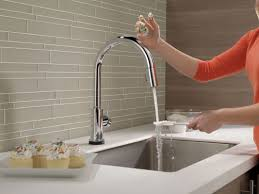 touch activated kitchen faucet design 605403 delta touch kitchen