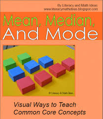 visual models for teaching mean median and mode amazing upper