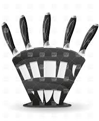 knife set for the kitchen with stand vector image 19518 u2013 rfclipart